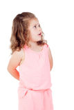 Cute little girl with three year old worried looking at side Stock Images