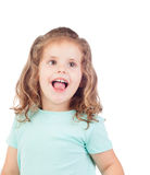 Cute little girl with three year smiling Royalty Free Stock Photo