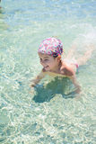 Cute little girl on tropical beach Stock Photography