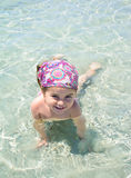 Cute little girl on tropical beach Royalty Free Stock Photo
