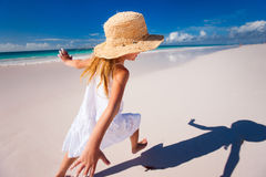 Cute little girl on vacation Royalty Free Stock Image
