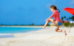 Cute little girl on vacation Stock Images