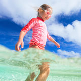 Cute little girl on vacation Royalty Free Stock Photos