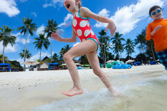 Cute little girl on vacation Royalty Free Stock Photo