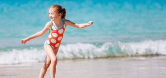 Cute little girl on vacation Stock Photography