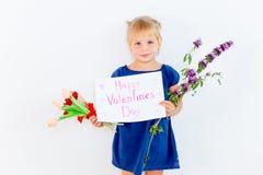 Kids Valentine day stock image