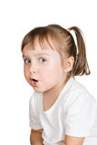Cute little girl very surprised Royalty Free Stock Photos