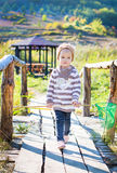Cute little girl for a walk Royalty Free Stock Images