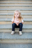 Cute little girl for a walk Stock Image