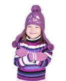 Cute little girl in warm clothes Royalty Free Stock Photo