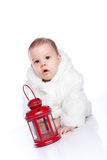 Cute little girl with a warm coat on Royalty Free Stock Image