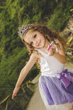 Cute little girl wearing a fairy costume Royalty Free Stock Photography