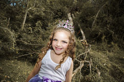 Cute little girl wearing a fairy costume Stock Photos