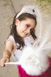 Cute little girl wearing a fairy costume Stock Images