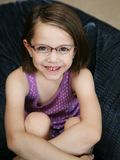 Cute little girl wearing glasses Stock Photography