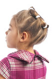 Cute little girl wearing hairstyle Royalty Free Stock Photos