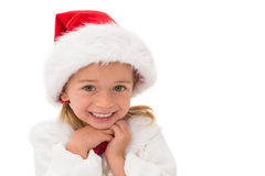 Cute little girl wearing santa hat Royalty Free Stock Images