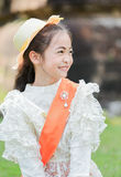 Cute little girl wearing typical thai dress Stock Photography