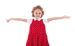 Cute little girl welcoming you Stock Photo