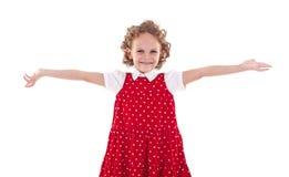 Cute little girl welcoming you Stock Photo