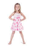 Cute little girl on white Royalty Free Stock Photography