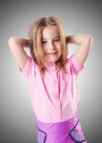 Cute little girl  on the white Royalty Free Stock Photo