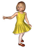 Cute Little Girl on White Stock Image