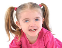 Cute Little Girl on White Isolated Background Royalty Free Stock Photography