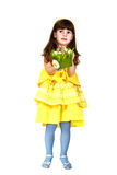 Girl with easter bunny Stock Images