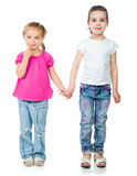 Cute little girls Stock Images
