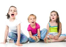 Cute little girls Royalty Free Stock Photography