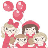 Cute little girls . Royalty Free Stock Images