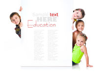 Cute little girls isolated Stock Photography
