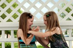 Cute little girls playing Royalty Free Stock Photos