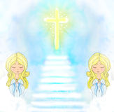 Cute little girls Praying Royalty Free Stock Photography