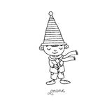 Cute little gnomes. Stock Image