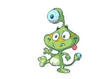 Cute little green alien Stock Photography