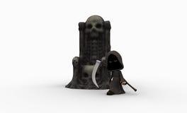 Cute little grim reaper Royalty Free Stock Photo