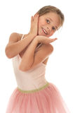 Cute little gymnast Royalty Free Stock Image