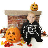 Cute Little Halloween Skeleton Royalty Free Stock Images