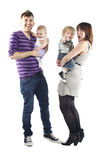 Cute little happy family Royalty Free Stock Photo
