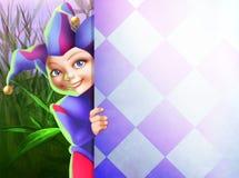 Cute little harlequin royalty free illustration