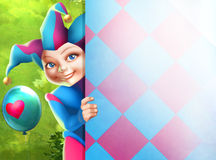 Cute little harlequin Royalty Free Stock Image