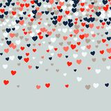 Cute Little Hearts Background, Different Size And Colors, Random Order, Bright Bold Colors Royalty Free Stock Photo