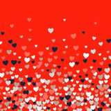 Cute Little Hearts Background, Different Size And Colors, Random Order, Bright Bold Colors Royalty Free Stock Image