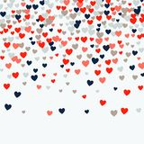 Cute little hearts background, different size and colors, random order, bright bold colors royalty free illustration