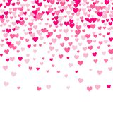 Cute Little Hearts Background, Random Order, Different Size And Colors Stock Photography
