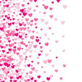 Cute little hearts background, random order, different size and colors vector illustration