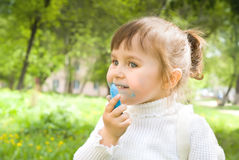 Cute little hellion girl Royalty Free Stock Photography