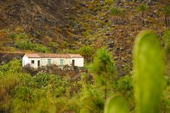 Cute little house in Spain - Gran Canaria royalty free stock photos
